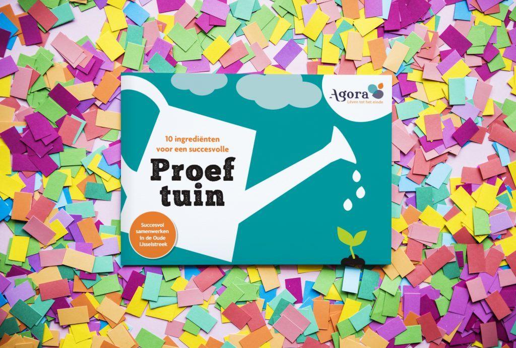 Agora's Proeftuinen boekje op confetti